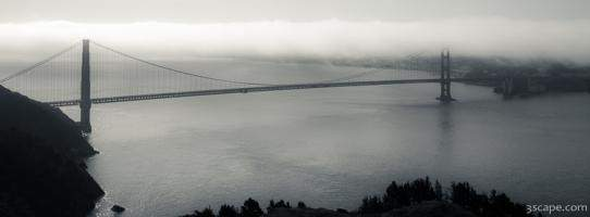 Golden Gate Bridge Foggy Panoramic