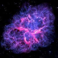 Crab Nebula in Blue