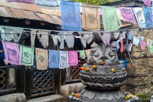 Nepalese Prayer Flags at Everest ride