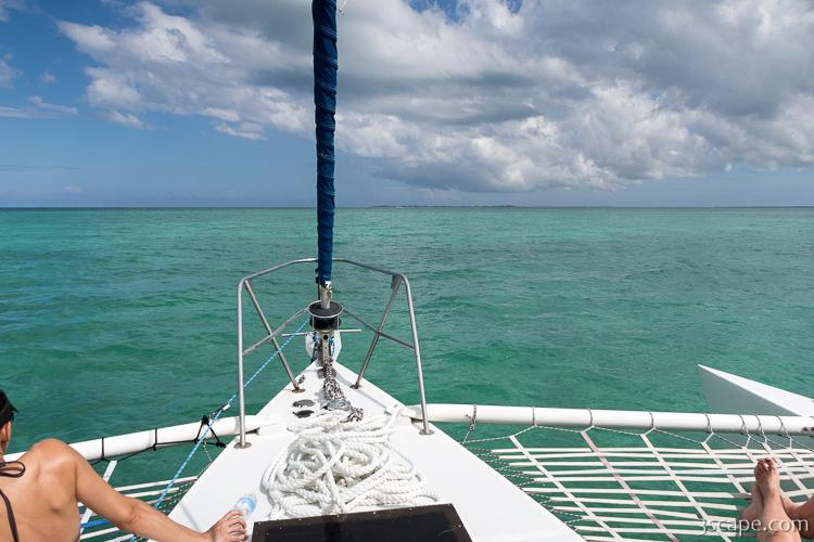Sailing out to Stingray City