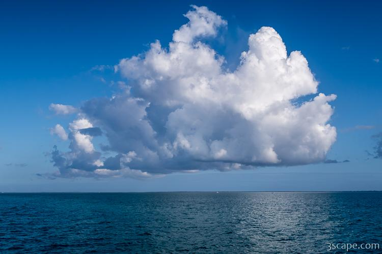 Giant Puffy Cloud over the Sea