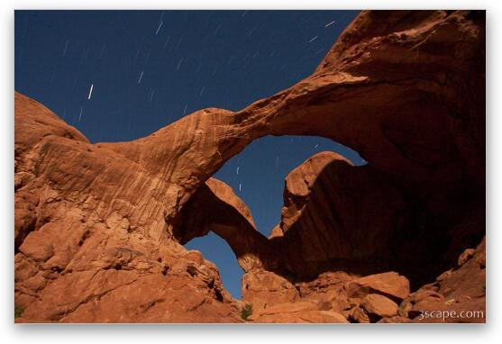 Double Arch Illuminated by Moonlight - Canvas Print