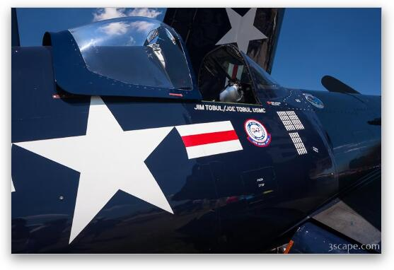 1945 Vought F4U-4 Corsair - Fine Art Print