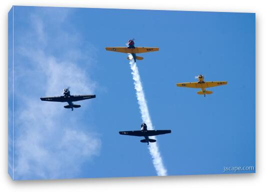 Warbirds flying in formation