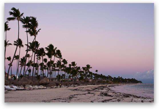 Punta Cana Beach At Sunrise Fine Art Metal Print