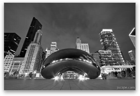 Cloud Gate and Skyline Fine Art Print
