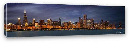 Chicago Canvas Print Panoramic Wide Ready to Hang Wall Decor