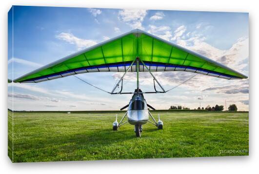 Airborne XT-912 Microlight Trike Canvas Print - Landscape